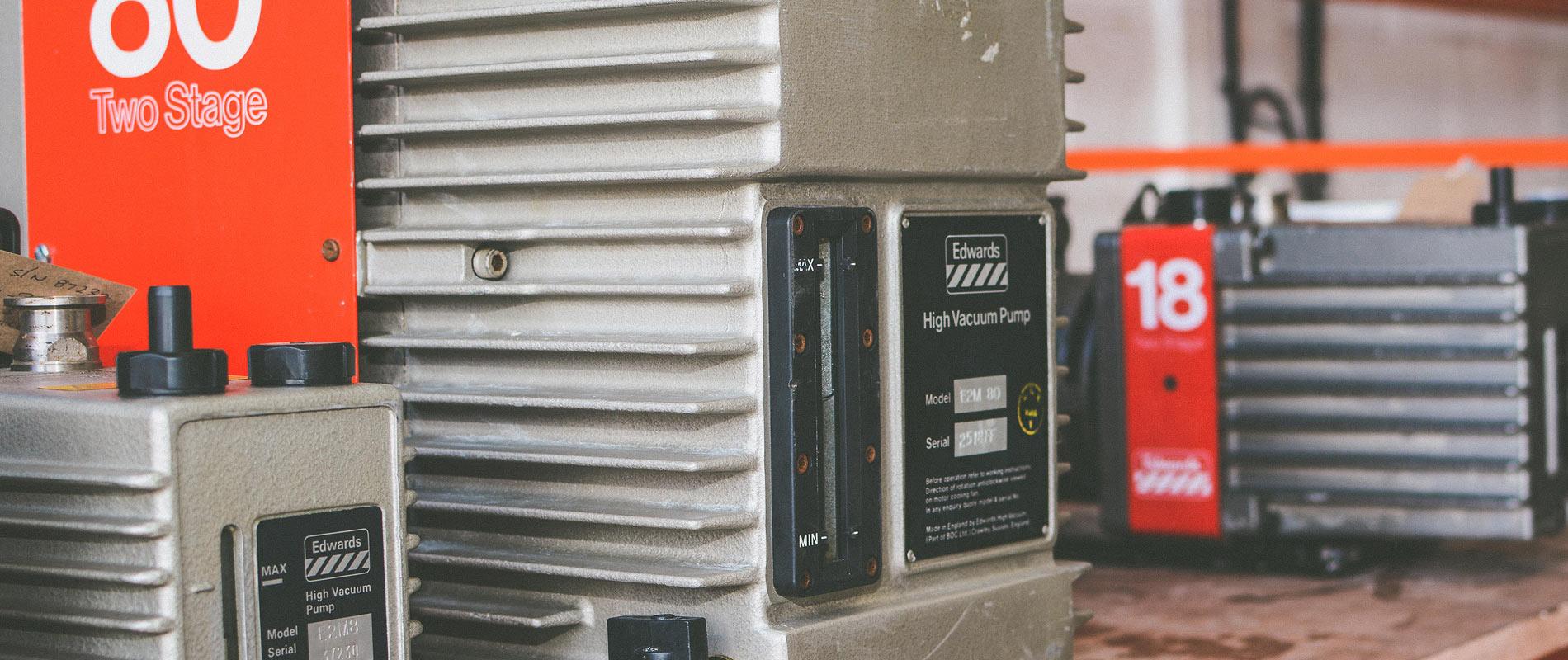 Industrial vacuum pump hire